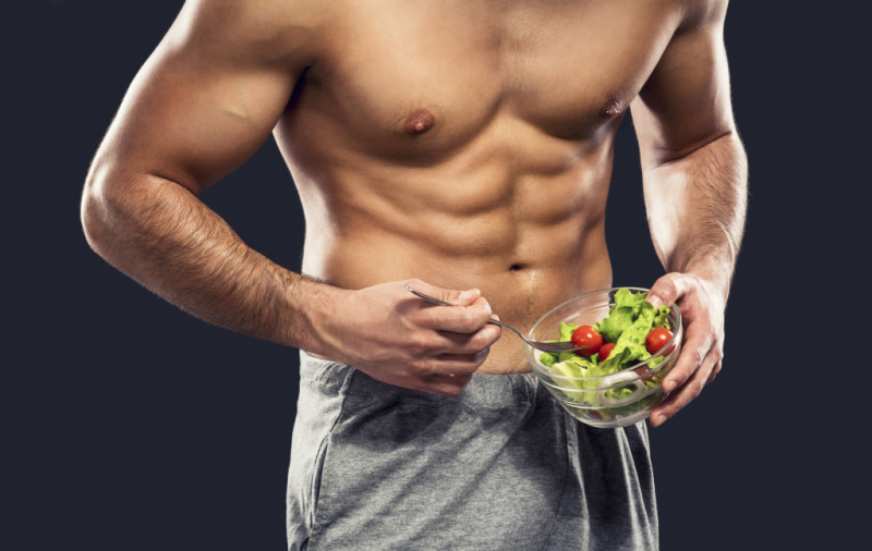 man eating salad abs fitted magazine 1 1024x648asasa