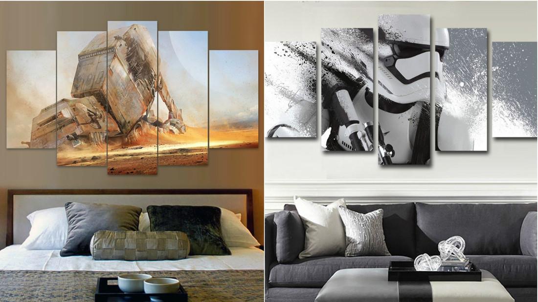 Θα έβαζες πίνακες Star Wars στο σαλόνι σου;