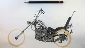 Μηχανές ζωγραφισμένες με μολύβι και κατακάθι του καφέ;