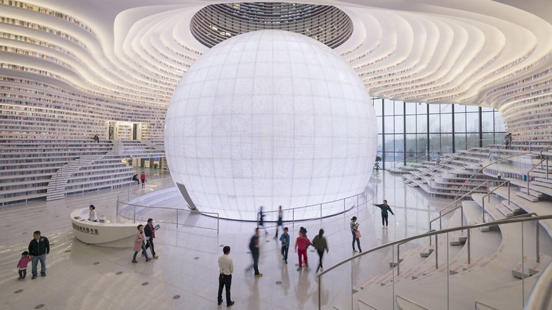 Η μεγαλύτερη βιβλιοθήκη στον κόσμο θυμίζει διαστημόπλοιο